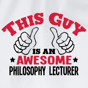 this guy is an awesome philosophy lectur - Drawstring Bag