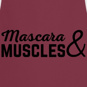 Mascara & Muscles Gym Quote  T-Shirts - Kochschürze