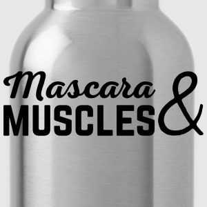 Mascara & Muscles Gym Quote  Toppar - Vattenflaska