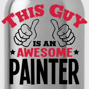 this guy is an awesome painter 2col - Water Bottle