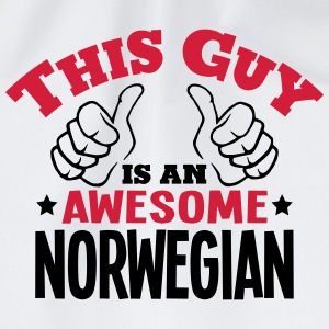 this guy is an awesome norwegian 2col - Drawstring Bag