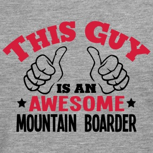 this guy is an awesome mountain boarder  - Men's Premium Longsleeve Shirt