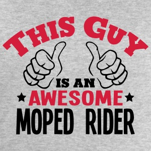 this guy is an awesome moped rider 2col - Men's Sweatshirt by Stanley & Stella