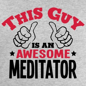 this guy is an awesome meditator 2col - Men's Sweatshirt by Stanley & Stella