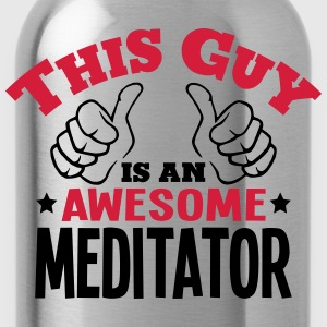 this guy is an awesome meditator 2col - Water Bottle