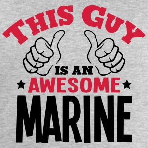 this guy is an awesome marine 2col - Men's Sweatshirt by Stanley & Stella