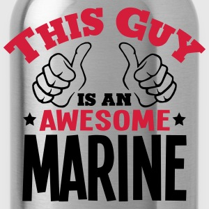 this guy is an awesome marine 2col - Water Bottle