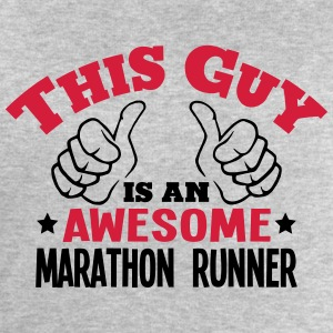 this guy is an awesome marathon runner 2 - Men's Sweatshirt by Stanley & Stella