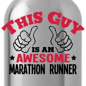 this guy is an awesome marathon runner 2 - Water Bottle