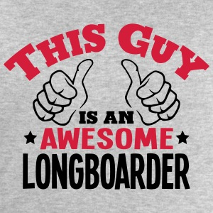 this guy is an awesome longboarder 2col - Men's Sweatshirt by Stanley & Stella