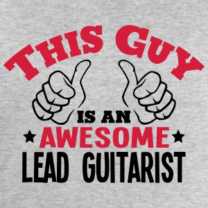 this guy is an awesome lead guitarist 2c - Men's Sweatshirt by Stanley & Stella