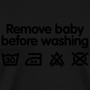 Remove baby before washing 2 Babybody - Premium-T-shirt herr