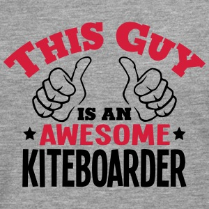 this guy is an awesome kiteboarder 2col - Men's Premium Longsleeve Shirt