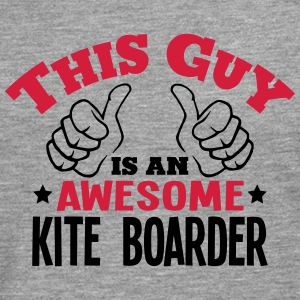 this guy is an awesome kite boarder 2col - Men's Premium Longsleeve Shirt