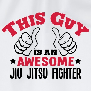 this guy is an awesome jiu jitsu fighter - Drawstring Bag