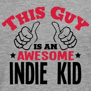 this guy is an awesome indie kid 2col - Men's Premium Longsleeve Shirt