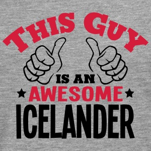 this guy is an awesome icelander 2col - Men's Premium Longsleeve Shirt