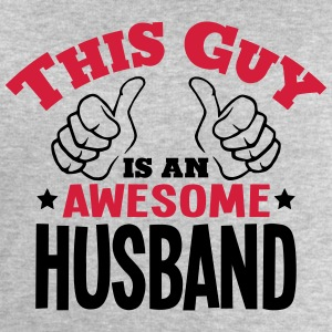 this guy is an awesome husband 2col - Men's Sweatshirt by Stanley & Stella