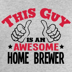 this guy is an awesome home brewer 2col - Men's Sweatshirt by Stanley & Stella
