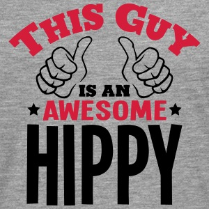 this guy is an awesome hippy 2col - Men's Premium Longsleeve Shirt