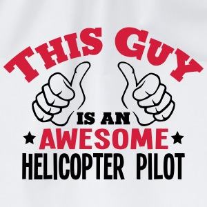 this guy is an awesome helicopter pilot  - Drawstring Bag