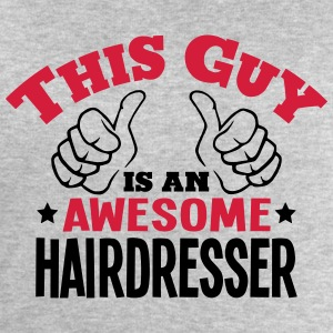 this guy is an awesome hairdresser 2col - Men's Sweatshirt by Stanley & Stella