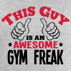 this guy is an awesome gym freak 2col - Men's Sweatshirt by Stanley & Stella