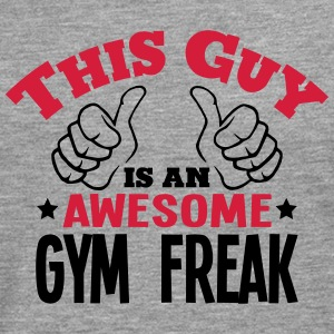 this guy is an awesome gym freak 2col - Men's Premium Longsleeve Shirt