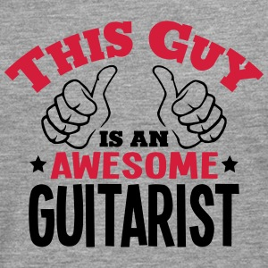 this guy is an awesome guitarist 2col - Men's Premium Longsleeve Shirt