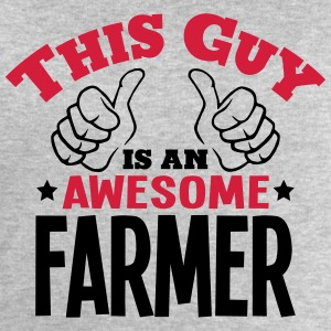 this guy is an awesome farmer 2col - Men's Sweatshirt by Stanley & Stella