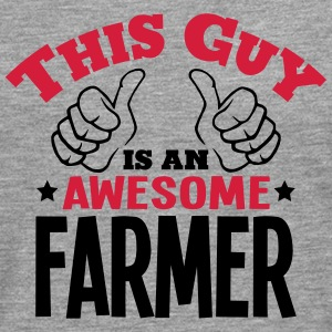 this guy is an awesome farmer 2col - Men's Premium Longsleeve Shirt
