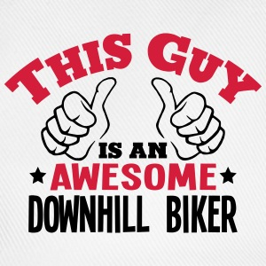 this guy is an awesome downhill biker 2c - Baseball Cap