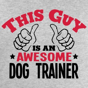 this guy is an awesome dog trainer 2col - Men's Sweatshirt by Stanley & Stella