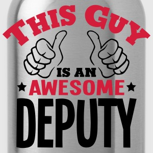 this guy is an awesome deputy 2col - Water Bottle