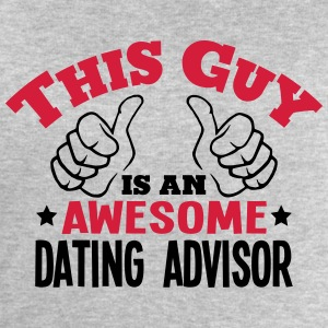 this guy is an awesome dating advisor 2c - Men's Sweatshirt by Stanley & Stella