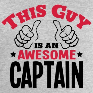 this guy is an awesome captain 2col - Men's Sweatshirt by Stanley & Stella