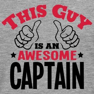 this guy is an awesome captain 2col - Men's Premium Longsleeve Shirt