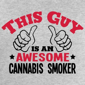 this guy is an awesome cannabis smoker 2 - Men's Sweatshirt by Stanley & Stella