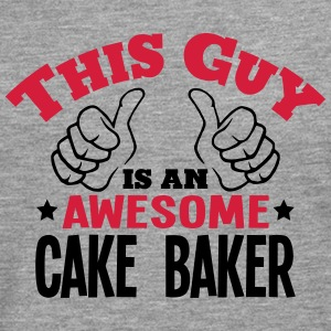 this guy is an awesome cake baker 2col - Men's Premium Longsleeve Shirt