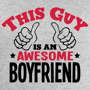 this guy is an awesome boyfriend 2col - Men's Sweatshirt by Stanley & Stella