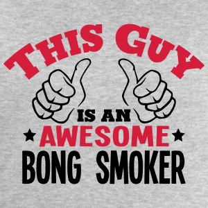 this guy is an awesome bong smoker 2col - Men's Sweatshirt by Stanley & Stella