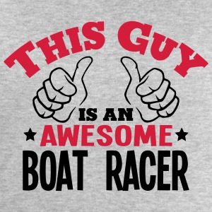 this guy is an awesome boat racer 2col - Men's Sweatshirt by Stanley & Stella