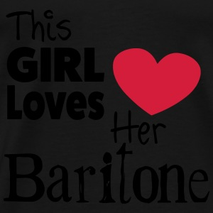 This Girl Loves Her Baritone Toppe - Herre premium T-shirt