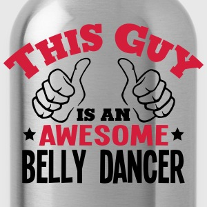 this guy is an awesome belly dancer 2col - Water Bottle