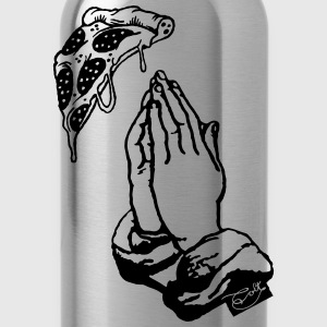 Pray for Pizza Langarmshirts - Trinkflasche
