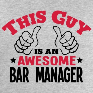 this guy is an awesome bar manager 2col - Men's Sweatshirt by Stanley & Stella