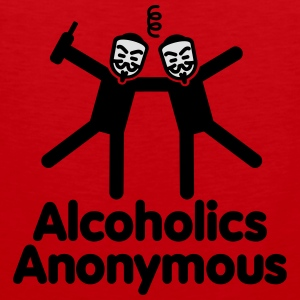 Alcoholics Anonymous 3 Hoodies & Sweatshirts - Men's Premium Tank Top