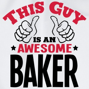 this guy is an awesome baker 2col - Drawstring Bag