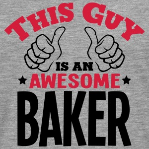 this guy is an awesome baker 2col - Men's Premium Longsleeve Shirt