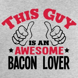 this guy is an awesome bacon lover 2col - Men's Sweatshirt by Stanley & Stella